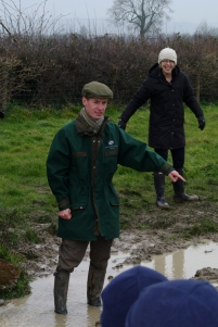 Jon pointing out the mud...