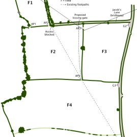 Site plan by Tony Hall