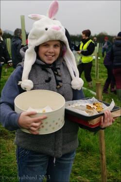 Emily on cake duty