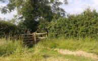 Kissing gate to Jacob's Lane