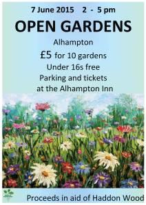 Open gardens poster 2015