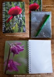 notebooks etc